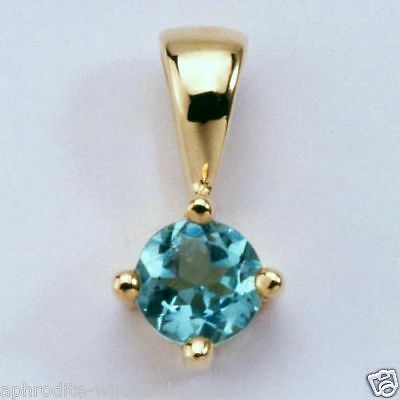 New 9K Solid Gold Pendants With Blue Topaz,instock