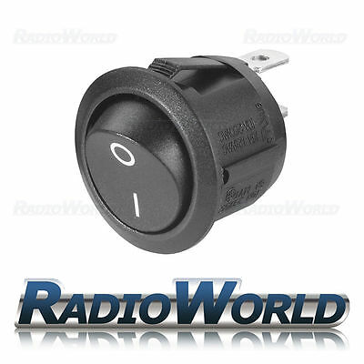 12v 20a ON/OFF/ Marked Black Round Rocker Switch /Car dash / light / Boat/ Van