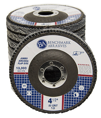 "20 Pack 4.5"" x 7/8"" Jumbo 80 Grit Zirconia Flap Disc Grinding Wheels T29"