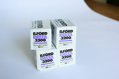 Ilford Delta 3200 35mm Film 36 exp (4 Pack)