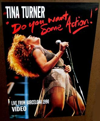 Tina Turner 1990 Barcelona poster MINT condition