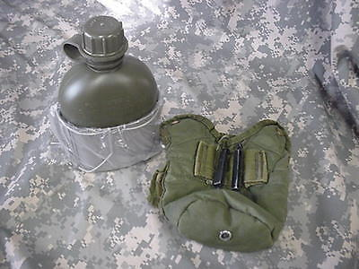 Military Style Canteen Cup W/New Canteen and Used Pouch
