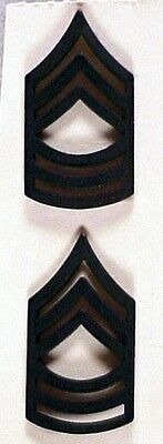 Rank Pin: Army Master Sergeant - subdued pair