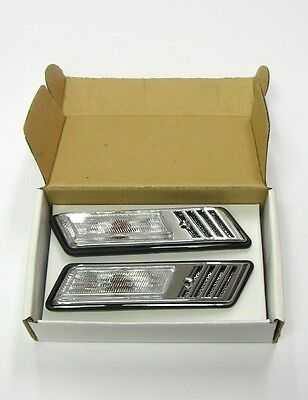 Bmw 3 Series E36 Clear Chrome Side Repeaters Pair