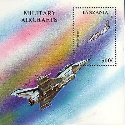 Tanzania 1993 Aircraft Fighter Jet Souvenir Sheet MNH !