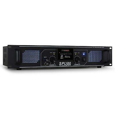 Ampli 1600W Dj Pa Home Cinema Hifi Stereo Usb Sd Mp3 Sono Rack 48Cm Disco Aux In