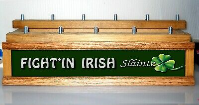 "BEER TAP HANDLE HOLDER lighted 18 ""Personalized Irish Pub"" FOR KEGERATOR"