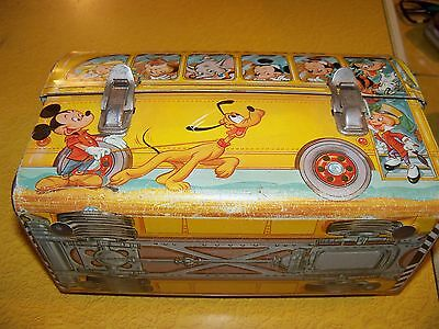Walt Disney tin lunch pail box collectible  Nice!