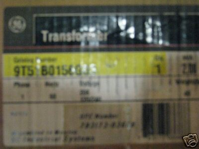 General Electric 2 KVA 208X120/240 1 Phase Transformer - T409  NEW