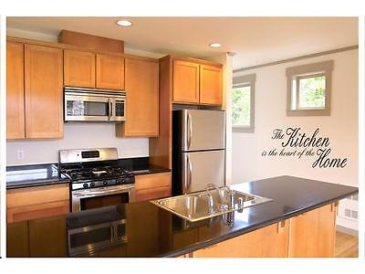 """KITCHEN IS THE HEART Vinyl Wall Decal Home Decor Lettering Words Quote 24"""""""