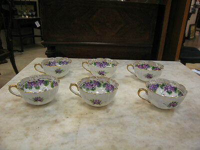 Set of 6 Coffee Cups unmarked possibly Hutschenreuther