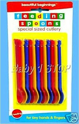 Baby Weaning Feeding Spoons 12 pack Cute Teddy Bear Design New FREE P&P