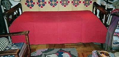 """All """"RED"""" Quilt: c.1930s, Cotton, Double size: 70"""" x 80"""", Unused"""