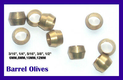 Brass Olives Imperial Barrel Olive Plumbing Water Pipe Gas Compression Olives