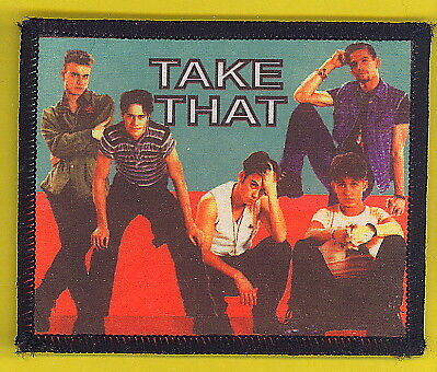 Take That 1993 uk sew-on cloth patch UNUSED #6