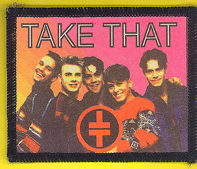 Take That 1993 uk sew-on cloth patch UNUSED #8