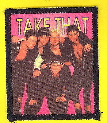 Take That 1993 uk sew-on cloth patch UNUSED #1