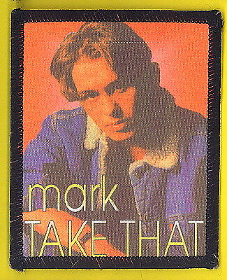 Take That 1993 uk sew-on cloth patch UNUSED #10 MARK