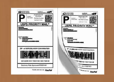 PO07 20 Premium Shipping Labels Self Adhesive HALF SHEET 8.5 x 5.5 PRO OFFICE