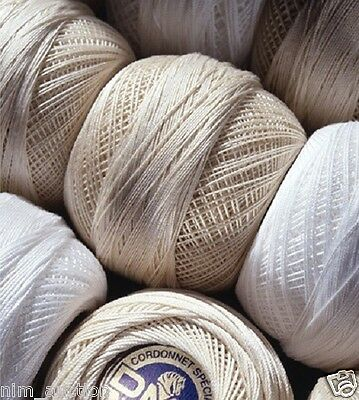 DMC Cordonnet Special Crochet Cotton Sizes 30-100 White and Ecru