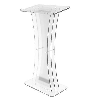 Plexiglass Clear Christian Lucite Church Pulpit Lectern Trinity Podium