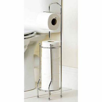 SALE - 20x TOILET ROLL HOLDERS Freestanding Chrome Plated Wholesale Job Lot 1210