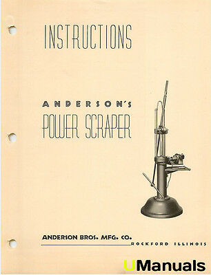 Andersons Power Scraper Instruction Manual