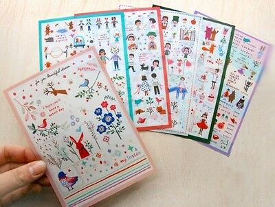 6pcs A Set Korea Very Berry Diary Decoration Stickers