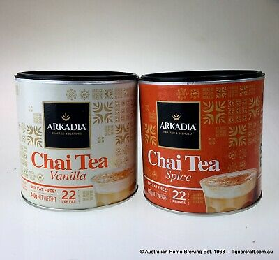 Arkadia Chai latte Spice x1 Vanilla Chai x1 Chai Tea what is chai latte teas