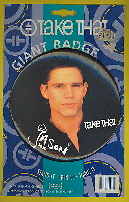 Take That 1994 G I A N T uk badge on original card JASON mint condition