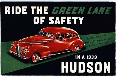 Westfield NJ 1939 Hudson Beautiful Advertising Brochure
