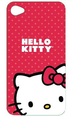Hello Kitty HKT iPhone 4 Polycarbonate Red and White Wrap New Free US Shipping