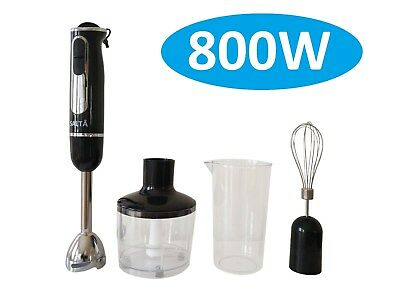 800W New Stainless steel Portable Stick Hand Blender Mixer Food Processor Beater