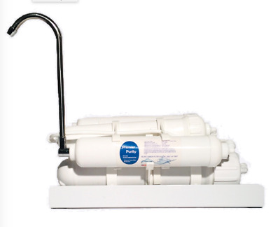 Counter Top Reverse Osmosis Drinking Water Filter System 4 Stage RO 150 GPD