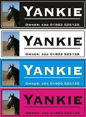 Horse stable door name plate plaque sign have a photo applied xmas gift idea