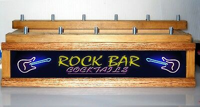 ROCK N ROLL BAR lighted11 BEER  tap handle display stand