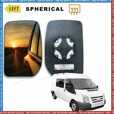 Left Passenger side Convex Wing mirror glass for Ford Transit 2000-2012 Heated