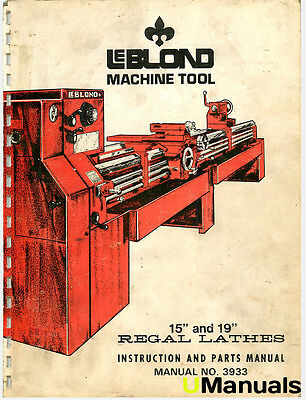 leblond regal lathe instruction parts manual bull picclick leblond 15 19 regal lathe instruction and parts manual
