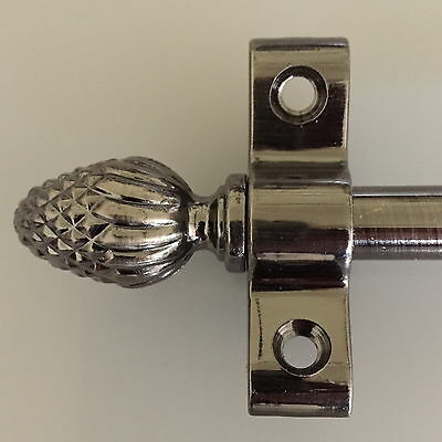 ANTIQUE PEWTER 3//8 x 36 INCH ROPE STAIR  ROD ROUND FINIAL R04LROR