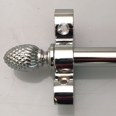 Polished Chrome 1/2 Inch Stair Rod Pine Finial (R08P)
