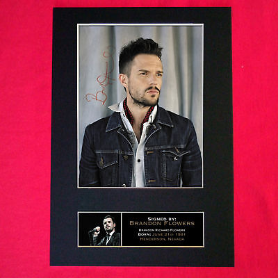 BRANDON FLOWERS Signed Autograph Mounted Photo A4 PRINT 160
