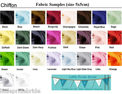 Chiffon color swatch fabric samples for Bridesmaid Party Evening Dresses