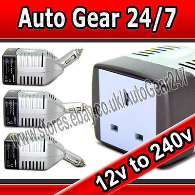 12v Car Cigarette Adapter to 240v House Mains Plug 80w Car Van Power Inverter
