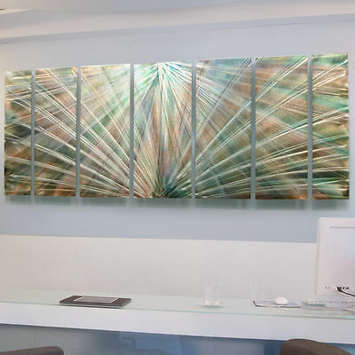 "Large Contemporary Pastel Abstract Metal Wall Art Decor Sculpture""Dream Dust"""
