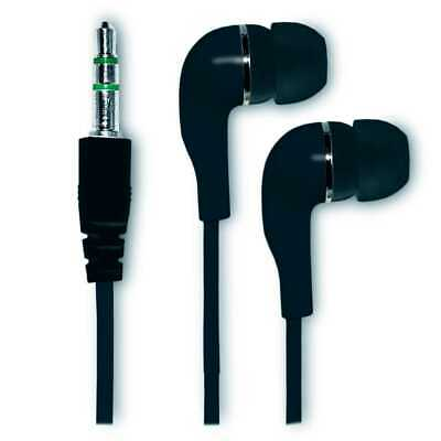 Cascos Compatibles Auriculares para Movil MP3 Silicona iPhone iPod iPad Negro
