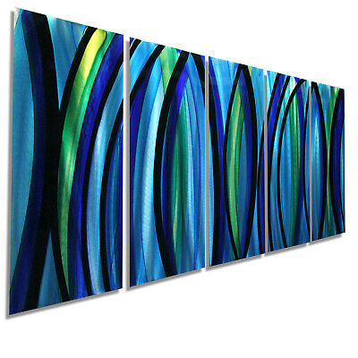 Statements2000 Metal Wall Art Modern Abstract Blue Green Painting XL Jon Allen