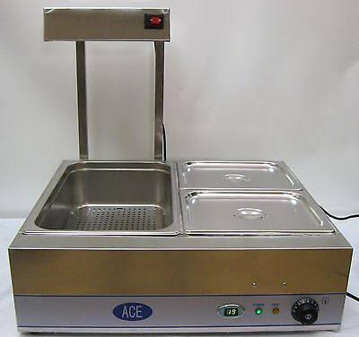 NEW Combination CHIP SCUTTLE & BAIN MARIE UNIT Ideal For Many FOOD GOODS etc