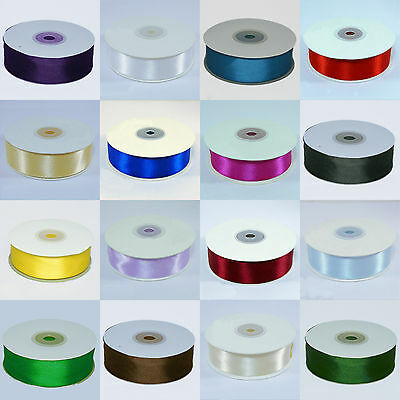 Double Faced Satin Ribbon Full roll 25m x 25mm  all colours