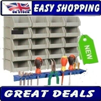 Storage Bins Bin Wall Kit + Free Tool Organiser Shelf