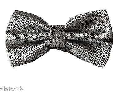 Silver Ready Tied Bow Tie & Various Other Colours Silk Jacquard